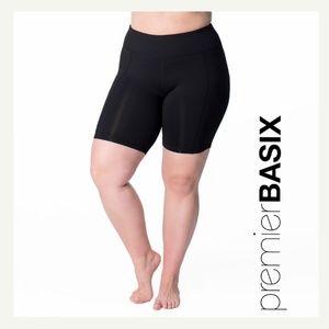 Curvy Athleisure - Curve Basix Biker Shorts